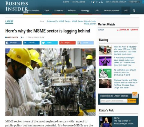Here's why the MSME sector is lagging behind