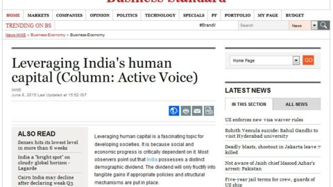 Leveraging India's human capability