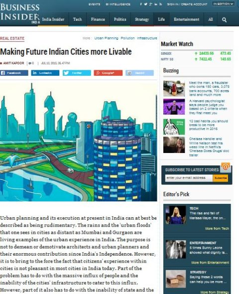 Making Future Indian Cities more Livable