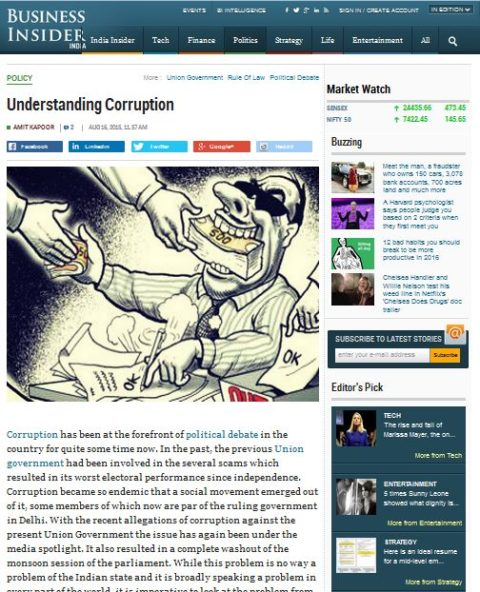 Understanding Corruption