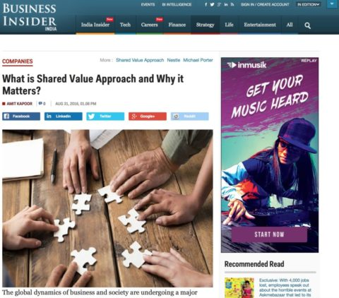 What is Shared Value Approach and Why it Matters?