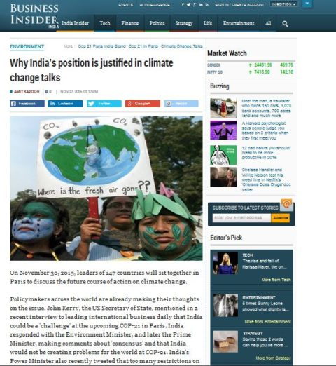 Why India's position is justified in climate change talks