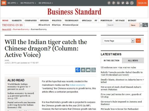 Will the Indian tiger catch the Chinese dragon?