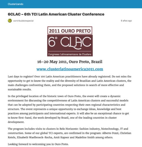 Clusters, a Strategic Agenda for Latin America