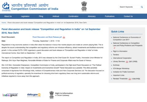 The Political Economy of Regulation in India: Impact on Investments and Economic Growth