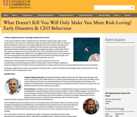 What doesn't kill you will only make you more risk-loving! Early disasters & CEO behaviour