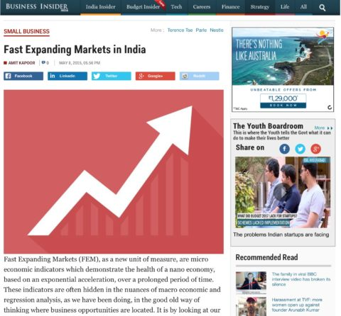 Fast Expanding Markets in India