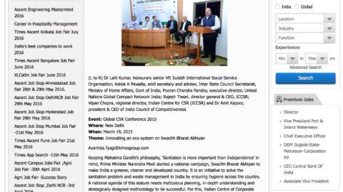 Innovating an Eco-System on Swachh Bharat Abhiyan