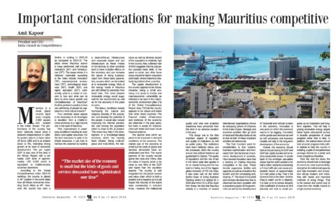 Important Considerations for making Mauritius Competitive