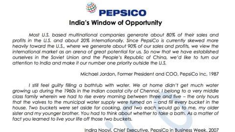 Pepsico: India's Window of Opportunity