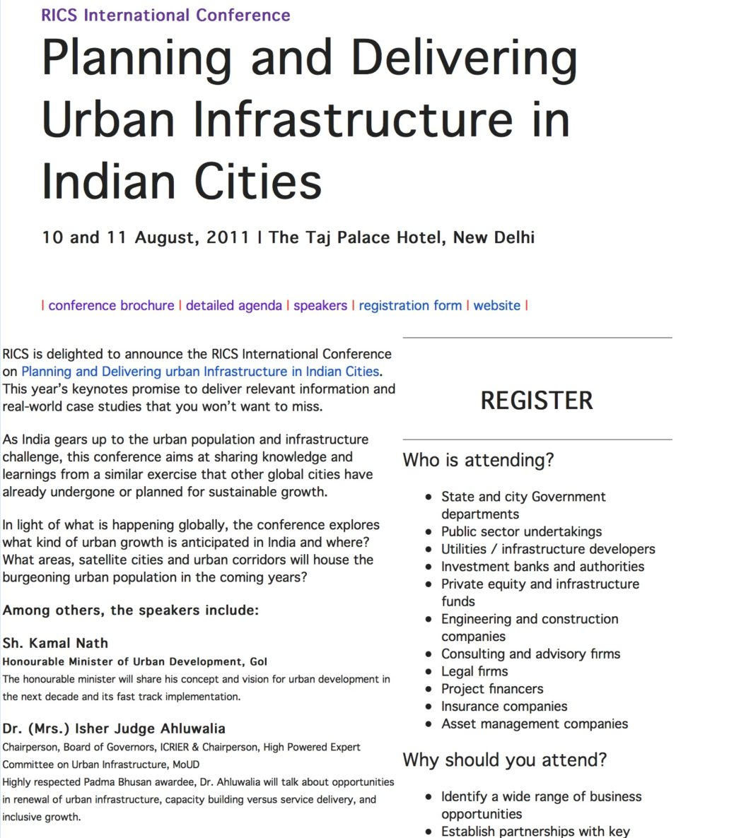 Successful planning regeneration and governance with existing dr amit kapoor shared his views at the rics international conference on august 10 11 2011 in delhi thecheapjerseys Choice Image