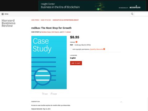 redBus: The Next Step for Growth (Harvard Business Publishing)