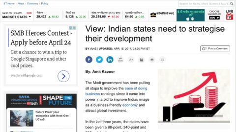 Indian states need to strategise their development