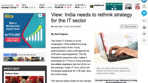View: India needs to rethink strategy for the IT sector