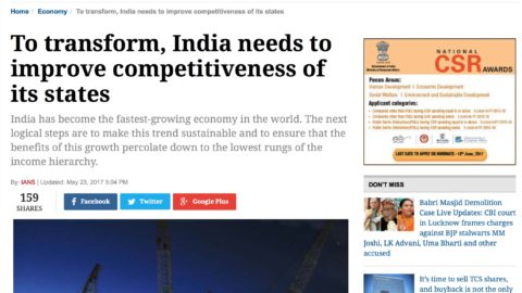 To transform, India needs to improve competitiveness of its states