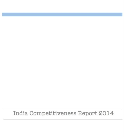 India Competitiveness Report 2014