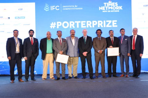 Professor Michael E. Porter presented Porter Prize 2017 in Mumbai