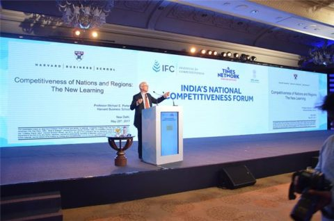 Professor Michael E. Porter visualises plan for a competitive India at NCF 2017