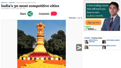 India's 30 most competitive cities