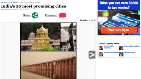 India's 20 most promising cities