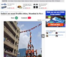India's 20 most livable cities, Mumbai is No 1