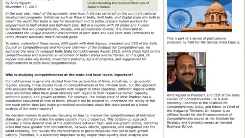 Understanding the Competitiveness of India's States