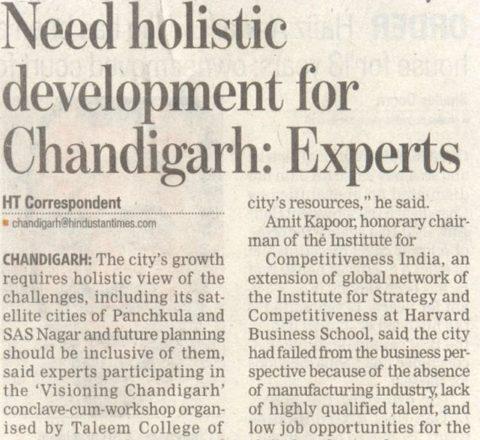 Visioning Chandigarh