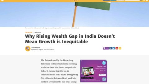 Why Rising Wealth Gap in India Doesn't Mean Growth is Inequitable