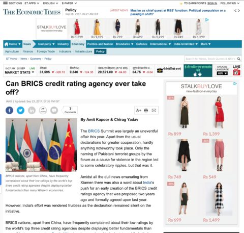 Can BRICS credit rating agency ever take off?