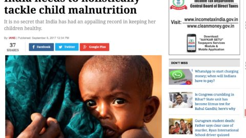 India needs to holistically tackle child malnutrition