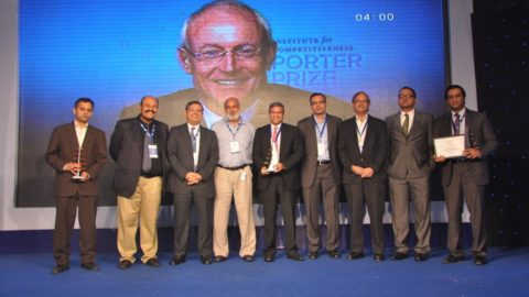 Michael E. Porter addressed the Indian corporates in the prestigious Porter Prize 2012 awards held in Gurgaon, India