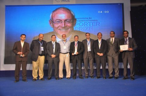 Michael E. Porter addressed the Indian corporates in the prestigious Porter Prize 2012 awards held in Gurgaon, India