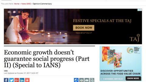 Economic growth doesn't guarantee social progress