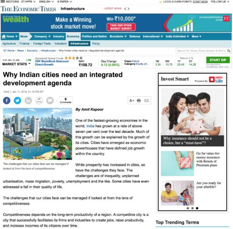 How Competitive are Indian Cities?