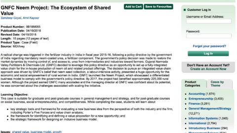 GNFC Neem Project: The Ecosystem of Shared Value (Ivey Publishing)
