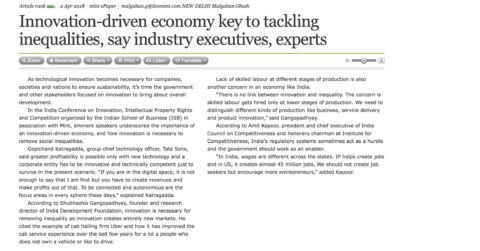 Innovation-driven economy key to tackling inequalities