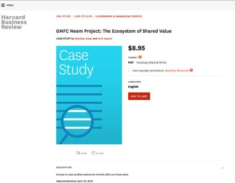 GNFC Neem Project: The Ecosystem of Shared Value (Harvard Business Publishing)