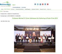 Professor Michael E. Porter Addresses the Gathering at Porter Prize 2018