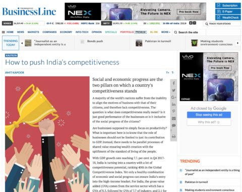 How to push India's competitiveness