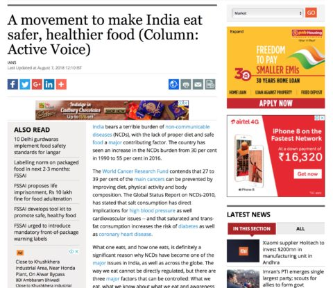 A movement to make India eat safer, healthier food