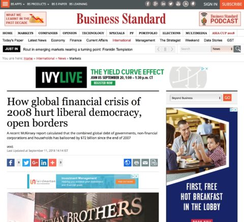 How global financial crisis of 2008 hurt liberal democracy, open borders