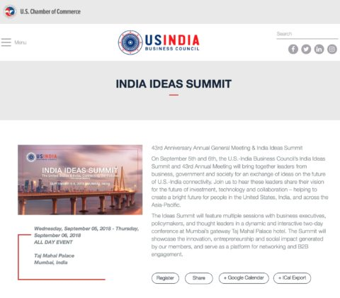 The India Ideas Summit