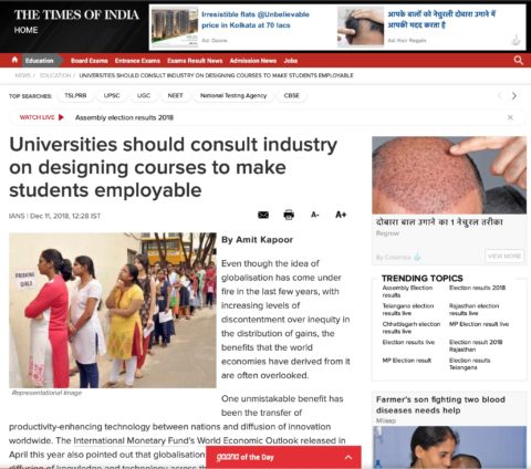 Universities should consult industry on designing courses to make students employable