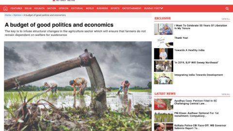 A budget of good politics and economics