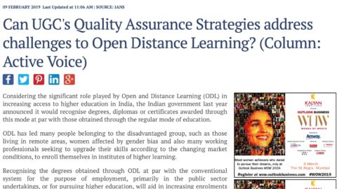 Can the UGC's recent Quality Assurance Strategies Address Challenges in Open Distance Learning Education in India?
