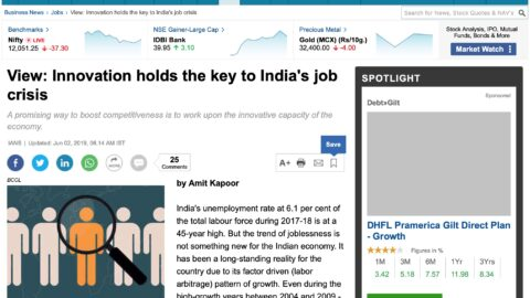 Innovation Holds the Key to India's Job Crisis