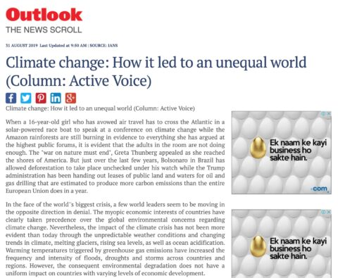 Climate Change: How it led to an Unequal World