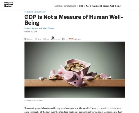 GDP Is Not a Measure of Human Well-Being