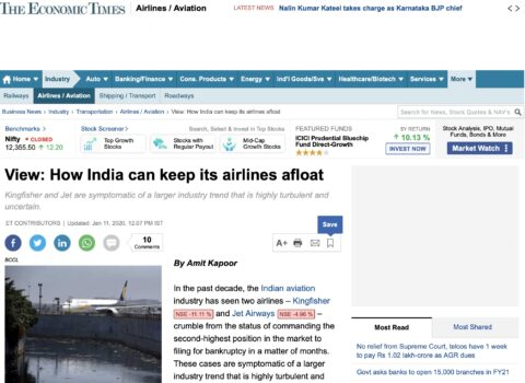 How India can keep its airlines afloat
