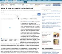 A new economic order is afoot